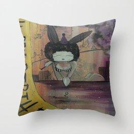 Birthday Bunny Throw Pillow
