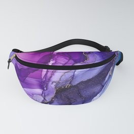 Abstract Vibrant Rainbow Ombre Fanny Pack