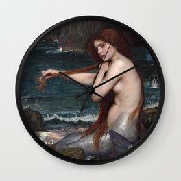 John William Waterhouse, Mermaid, 1900 Wall Clock