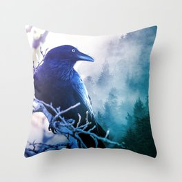 Forested Throw Pillow