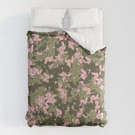 Origami Unicorn Camo PINK Comforters