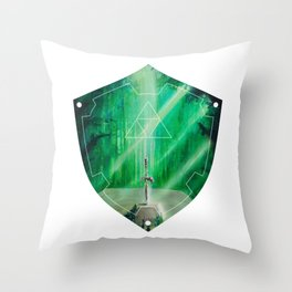Hylian Shield (Master Sword in the Lost Woods) Throw Pillow