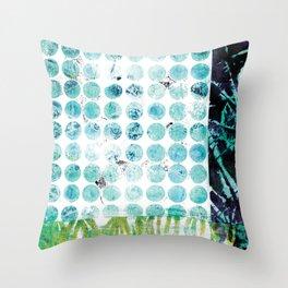 Pods & Dots, Blue Throw Pillow