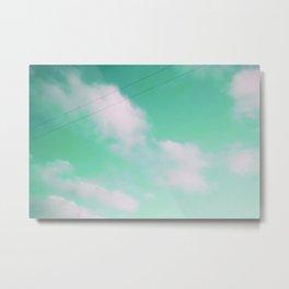 mint window Metal Print