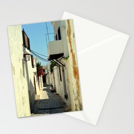 Street in Lindos Stationery Cards