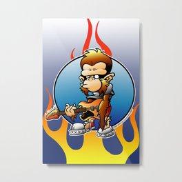 Rock Monkey!! Metal Print