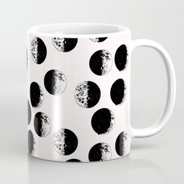 Moon phase on pink background Coffee Mug