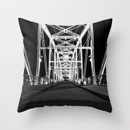 Shelby Street Bridge At Night Throw Pillow