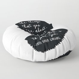 Ruth Bader Ginsburg Quote Floor Pillow