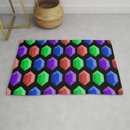 These Aren't Rupees! - RGBP Black Rug