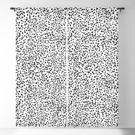 Nadia - Black and White, Animal Print, Dalmatian Spot, Spots, Dots, BW Blackout Curtain