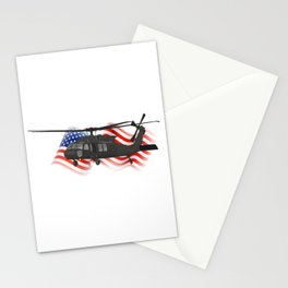 Patriotic UH-60 Military Helicopter Stationery Cards