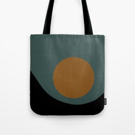 Sun / Moon Minimalism - Teal & Orange Tote Bag