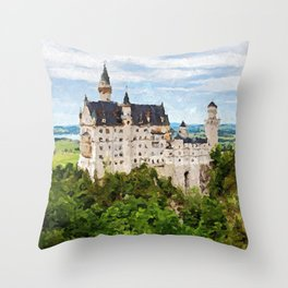 Neuschwanstein Castle, Germany Throw Pillow