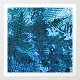 Woodland fern Art Print
