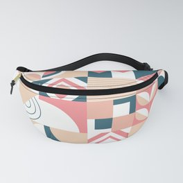 Lovely mosaic abstract geometric art pastel illustration pattern Fanny Pack