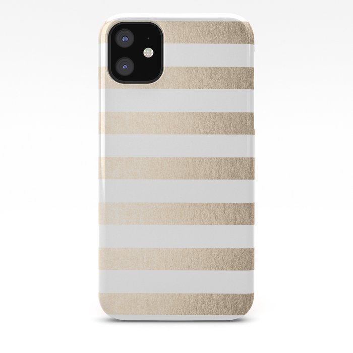 Simply Striped in White Gold Sands iPhone Case