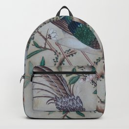 Antique Chinoiserie with Bird Backpack