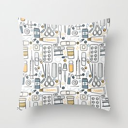 First aid kit Throw Pillow