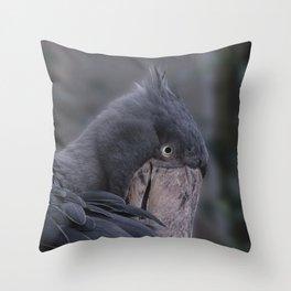 Shoebill Smile Throw Pillow