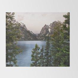 Grand Teton Wanderlust Lake Adventure - Nature Photography Throw Blanket