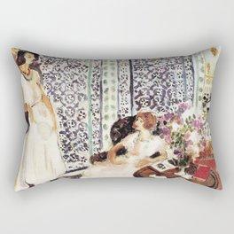 Henri Matisse - Moorish Screen - Exhibition Poster Rectangular Pillow