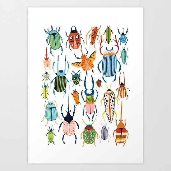 Woodland Beetles by amberstextiles