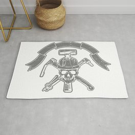 Death construction worker Rug