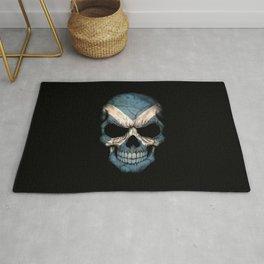 Dark Skull with Flag of Scotland Rug