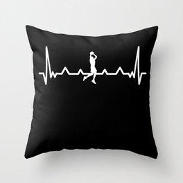 Funny Bball Basketball | Heartbeat Gift Throw Pillow