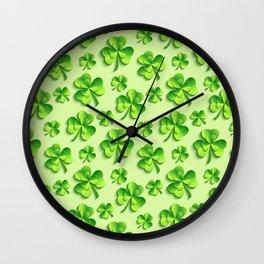 Happy St. Patrick's Day Pattern | Ireland Luck Wall Clock