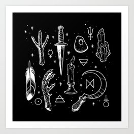 Accoutrements BLACK Art Print