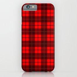 Scarlet Plaid iPhone Case