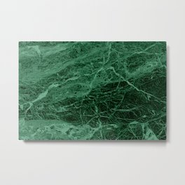 Dark emerald marble texture Metal Print