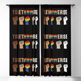 Black Lives Matter Together We Rise Equality Shirt Blackout Curtain