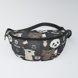 Bears of the world pattern Fanny Pack