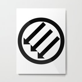 ANTIFA Post-WWII anti-fascism Anti-Fascist Action Anti-racism symbol gray Metal Print