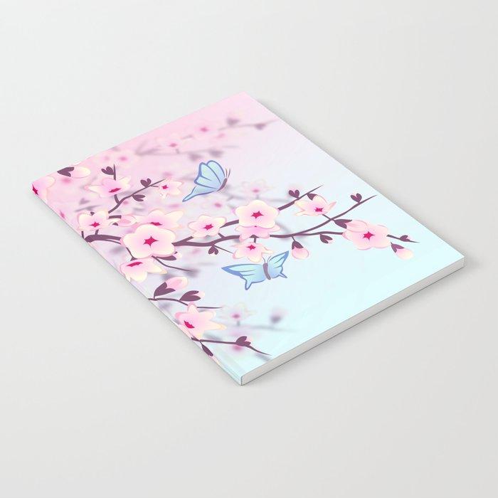 Cherry Blossom Landscape Notebook