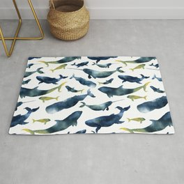 Dreams of whales Rug