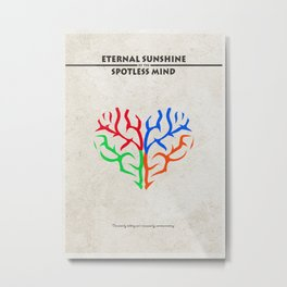Eternal Sunshine of the Spotless Mind Alternate and Minimalist Poster Metal Print