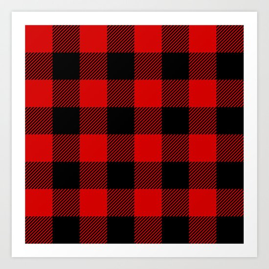 Red Lumberjack Pattern by nlmiller07art