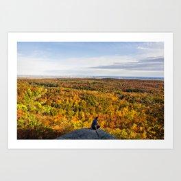 Looking at Autumn Art Print