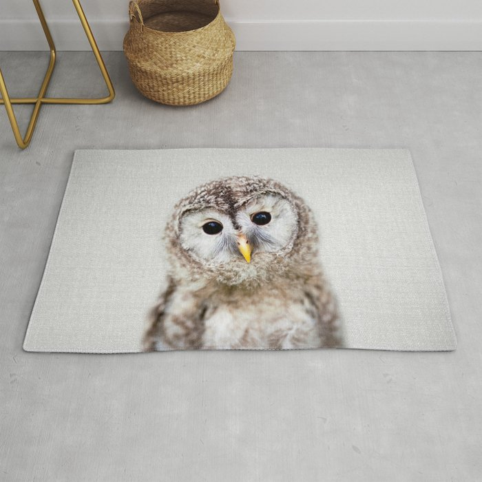 Baby Owl - Colorful Rug