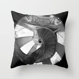 The spiral staircase in the Renaissance castle Hartenfels in Torgau / Saxony Throw Pillow