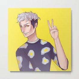 Egg guy Metal Print