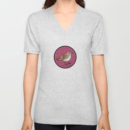Woodthrush Friend Unisex V-Neck