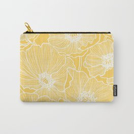Sunshine Yellow Poppies Carry-All Pouch