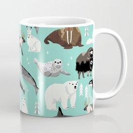 Arctic animals kids pattern gifts boys and girls nursery decor Coffee Mug