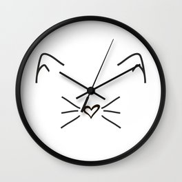 Cute Cat #society6 #decor #buyart #artprint Wall Clock