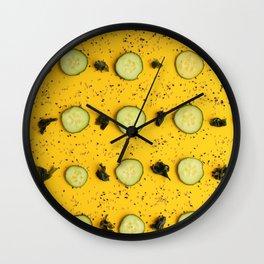 Pattern. Yellow. Decoration Wall Clock